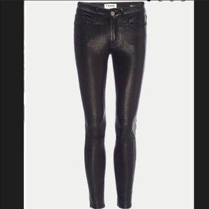 FRAME Le Skinny de Jeanne BLACK LEATHER size 24